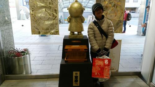 20150102__浜松駅の「家康君」とubazakuraさん