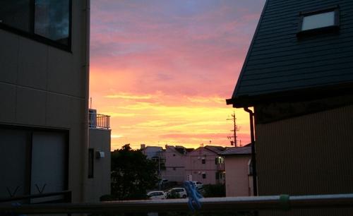 2010/08/08撮影 見事な「朝焼け」