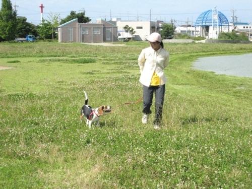 09/07/12撮影 ハナと人間のお母さん