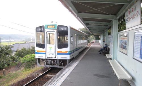 20130830 天竜浜名湖線のフルーツパーク駅とubazakuraさん