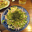 20160403_海ブドウのサラダ、ジューシーで宜しいかと!ubazakuraさん、感動してました。